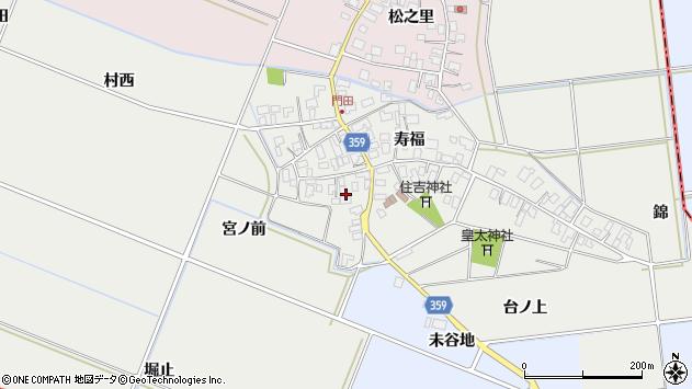 山形県酒田市門田寿福118周辺の地図