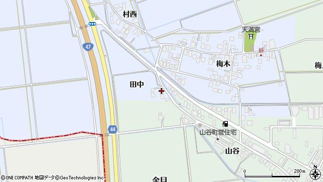山形県東田川郡庄内町跡田中周辺の地図