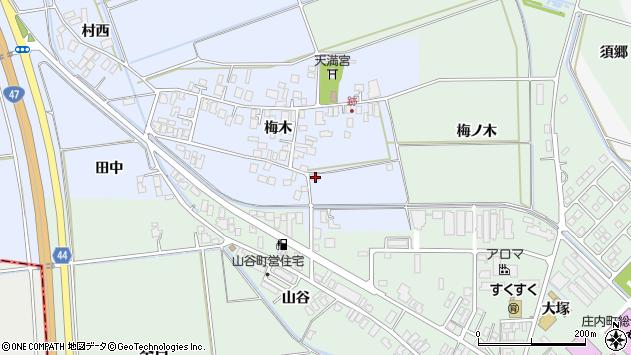 山形県東田川郡庄内町跡梅木86周辺の地図