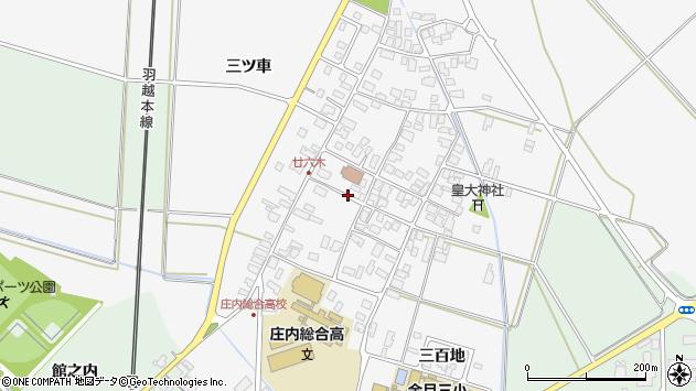 山形県東田川郡庄内町廿六木三ツ車周辺の地図