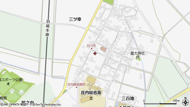 山形県東田川郡庄内町廿六木三ツ車36周辺の地図