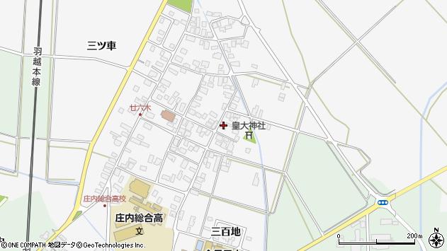山形県東田川郡庄内町廿六木三ツ車57周辺の地図