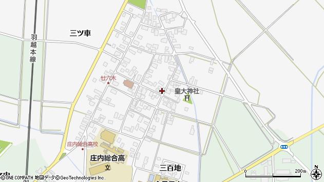 山形県東田川郡庄内町廿六木三ツ車58周辺の地図