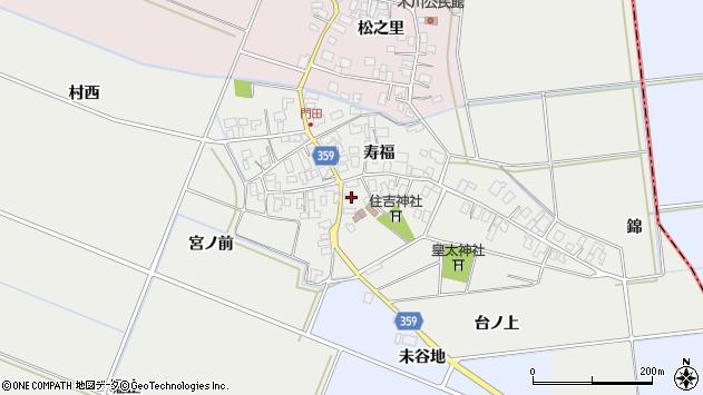 山形県酒田市門田周辺の地図