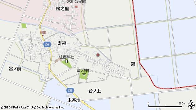 山形県酒田市門田寿福9周辺の地図