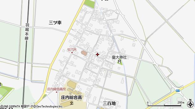 山形県東田川郡庄内町廿六木三ツ車67周辺の地図