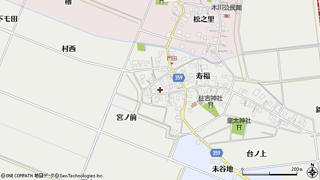 山形県酒田市門田寿福133周辺の地図
