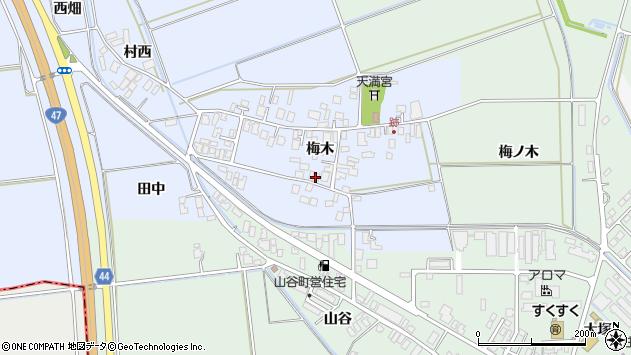 山形県東田川郡庄内町跡梅木71周辺の地図
