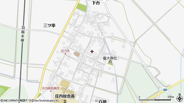 山形県東田川郡庄内町廿六木三ツ車68周辺の地図