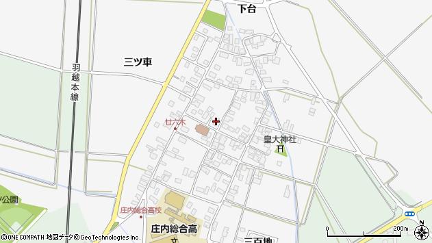 山形県東田川郡庄内町廿六木三ツ車71周辺の地図
