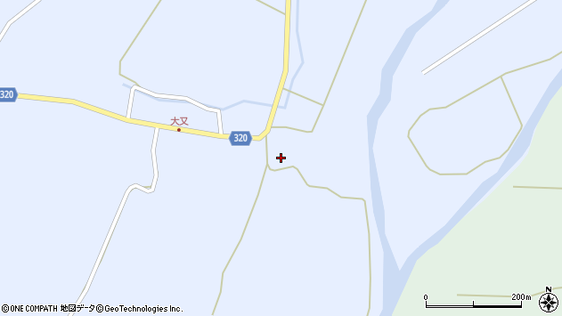 山形県最上郡金山町山崎三枝1499周辺の地図