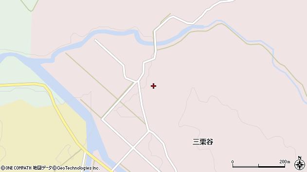 山形県酒田市山元三栗谷62周辺の地図