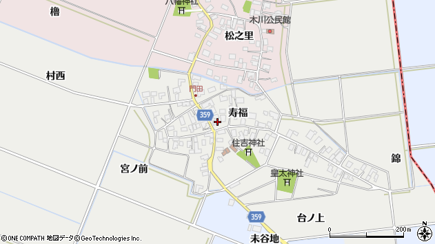 山形県酒田市門田寿福105周辺の地図
