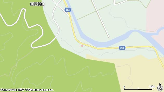 山形県酒田市田沢中島23周辺の地図
