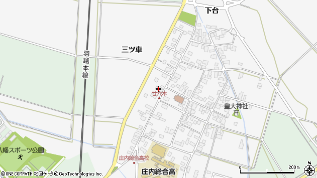 山形県東田川郡庄内町廿六木三ツ車133周辺の地図