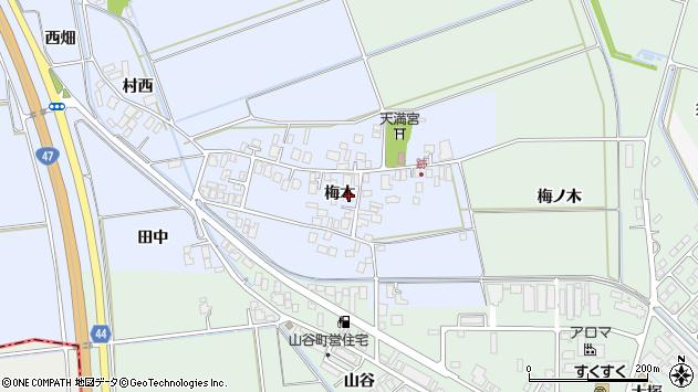 山形県東田川郡庄内町跡梅木76周辺の地図