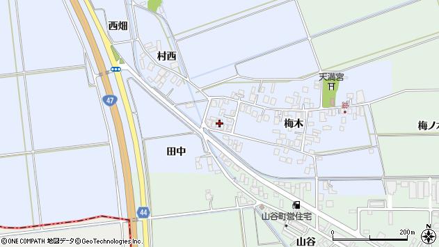 山形県東田川郡庄内町跡梅木44周辺の地図
