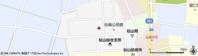 山形県酒田市山田周辺の地図