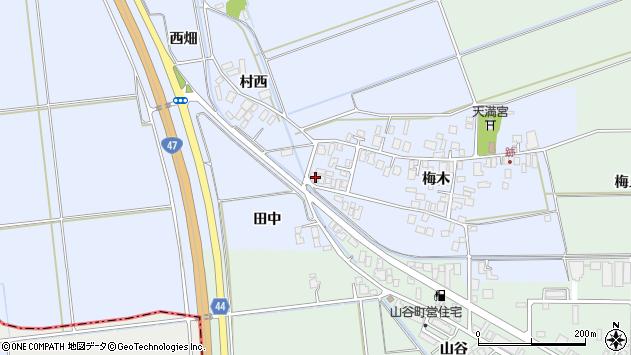 山形県東田川郡庄内町跡梅木40周辺の地図