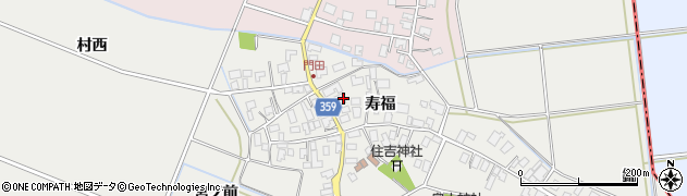 山形県酒田市門田寿福104周辺の地図