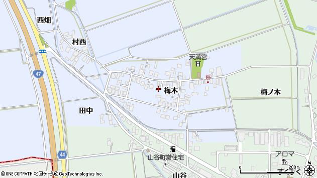 山形県東田川郡庄内町跡梅木64周辺の地図