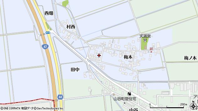 山形県東田川郡庄内町跡梅木周辺の地図