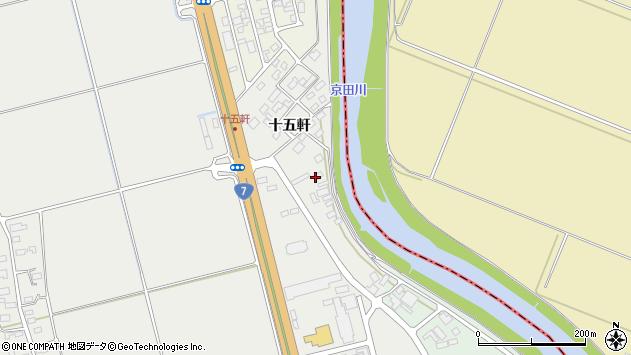山形県酒田市広野十五軒54周辺の地図