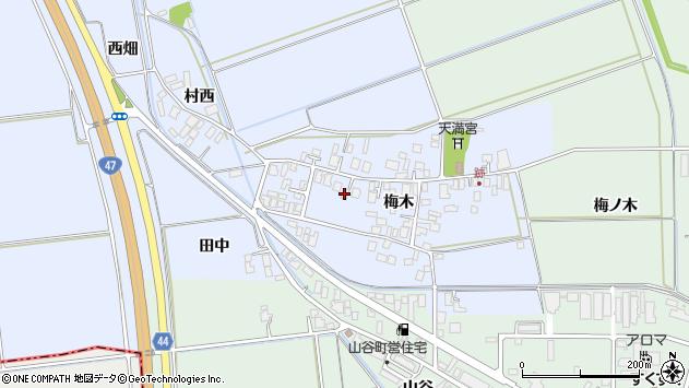山形県東田川郡庄内町跡梅木60周辺の地図