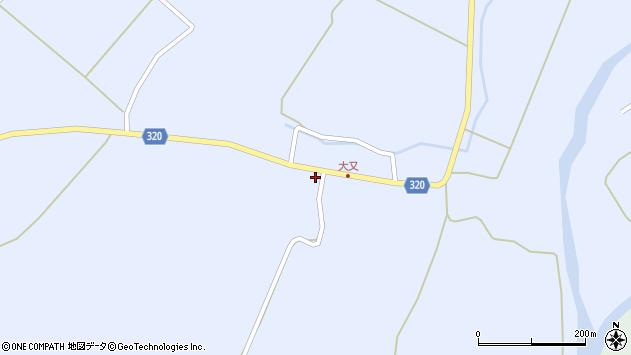 山形県最上郡金山町山崎三枝1345周辺の地図