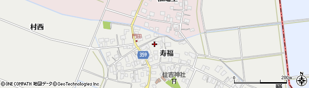 山形県酒田市門田寿福103周辺の地図