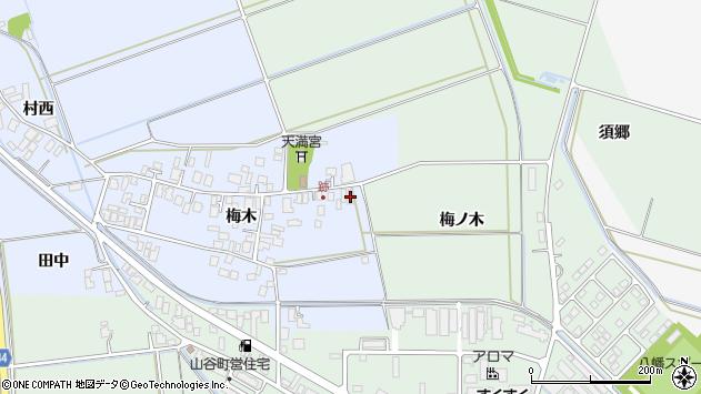山形県東田川郡庄内町跡梅木93周辺の地図