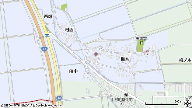 山形県東田川郡庄内町跡梅木46周辺の地図
