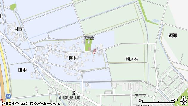 山形県東田川郡庄内町跡梅木95周辺の地図