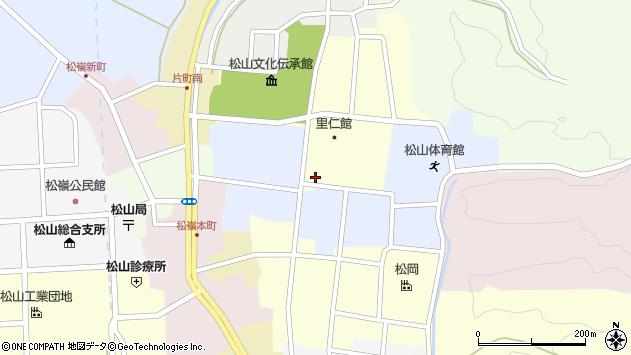 山形県酒田市内町周辺の地図