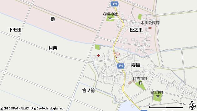 山形県酒田市門田寿福160周辺の地図