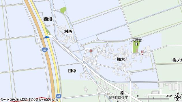 山形県東田川郡庄内町跡梅木50周辺の地図