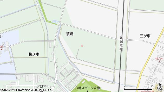 山形県東田川郡庄内町余目須郷周辺の地図