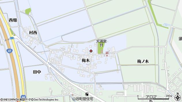 山形県東田川郡庄内町跡梅木79周辺の地図