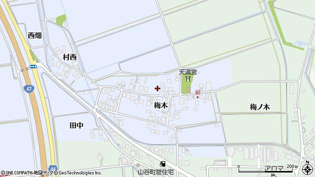 山形県東田川郡庄内町跡梅木63周辺の地図