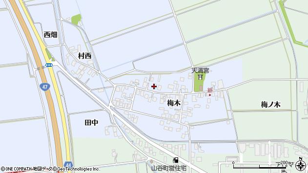 山形県東田川郡庄内町跡梅木59周辺の地図