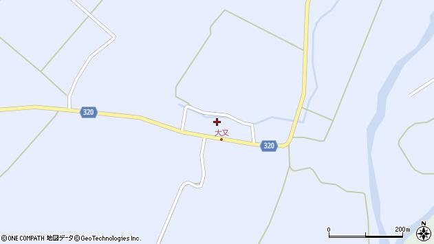 山形県最上郡金山町山崎三枝周辺の地図
