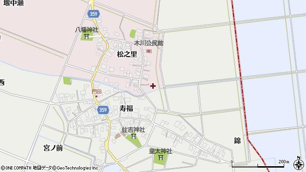 山形県酒田市木川松之里1周辺の地図