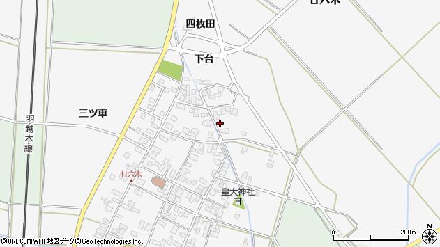 山形県東田川郡庄内町廿六木三ツ車103周辺の地図