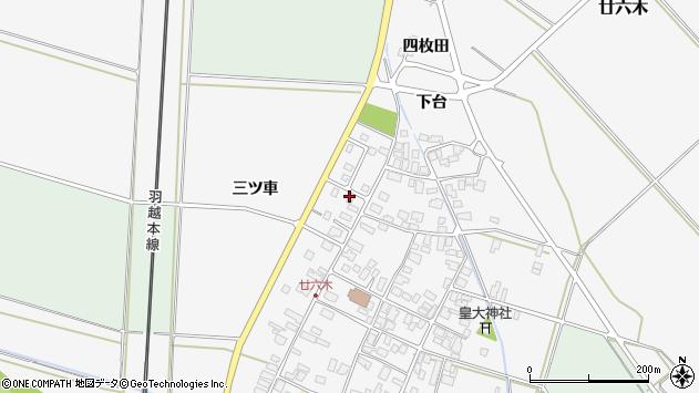 山形県東田川郡庄内町廿六木三ツ車126周辺の地図