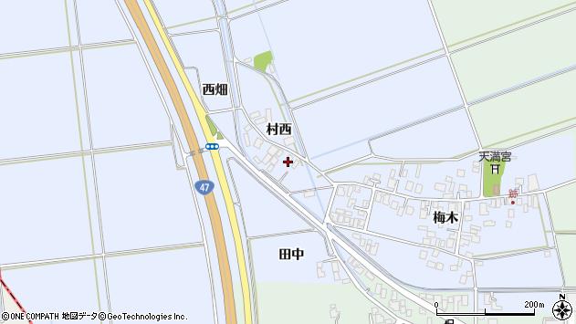 山形県東田川郡庄内町跡村西14周辺の地図