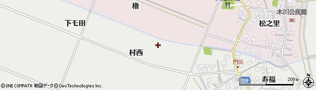 山形県酒田市門田村西周辺の地図