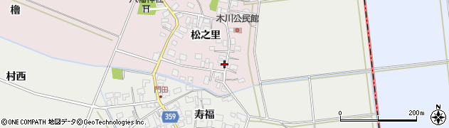 山形県酒田市木川松之里29周辺の地図