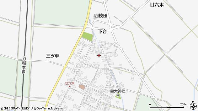 山形県東田川郡庄内町廿六木三ツ車96周辺の地図