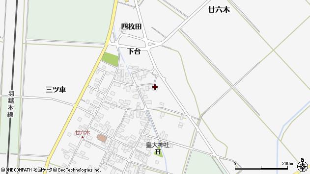 山形県東田川郡庄内町廿六木下台46周辺の地図