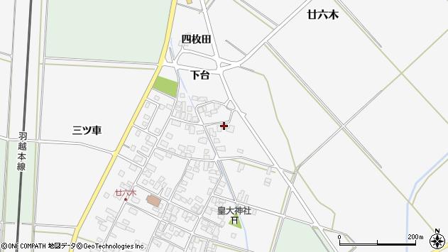 山形県東田川郡庄内町廿六木三ツ車108周辺の地図